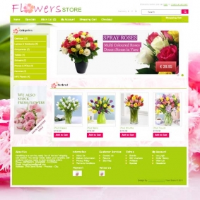 Flowers Store Opencart Theme 1.5